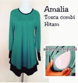 azzafran for mommy blus amalia hijau